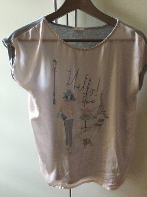 Esprit Print Shirt grey-dusky pink