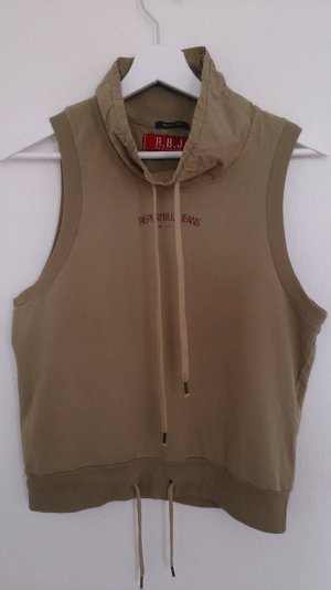 Replay Muscle Shirt grey brown cotton