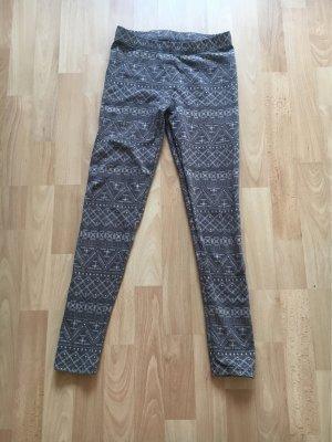 Legging gris-argenté