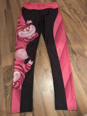 Leggings nero-rosa