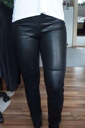 Leggings aus Kunstleder schwarz