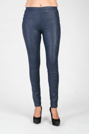 Leggings bloom deluxe Lederoptik blau Gr.40