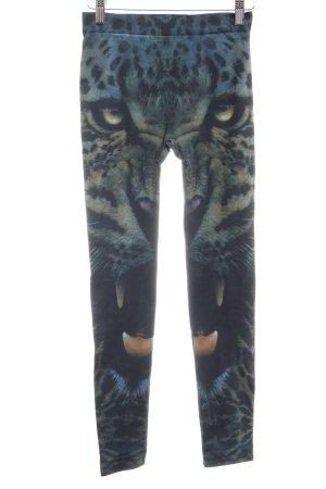 Legging groen-grijs-petrol dierenprint atletische stijl