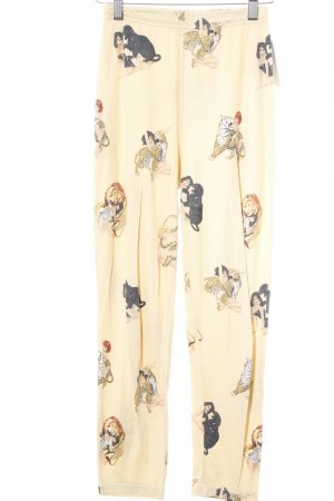 Leggings pale yellow comic pattern comic look