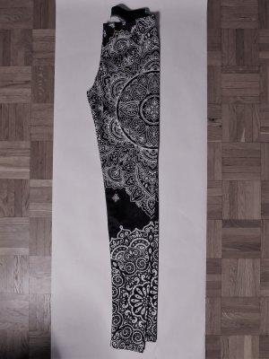 Legging wit-donkerblauw Polyester