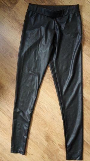 Leggings in Lederoptik, Größe S (36/38), sehr bequem