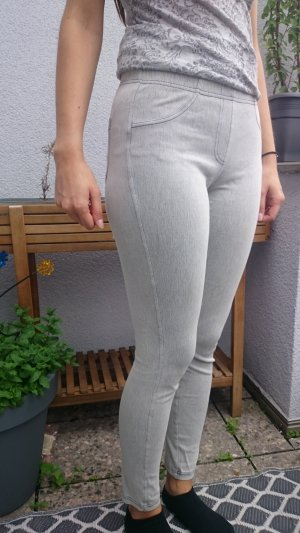Leggings in weiß- jeans Optik