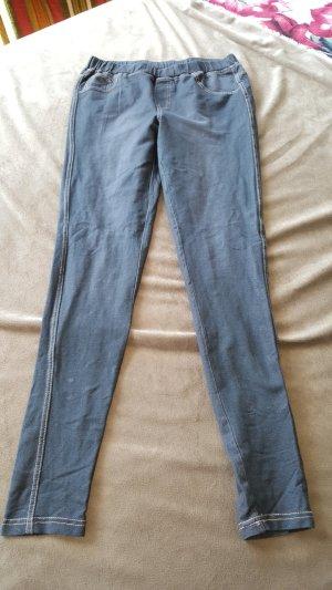 Leggings Jeanslook Jeggings grau S 36 38