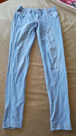 Leggings Jeanslook Jeggings hellblau S 36 38