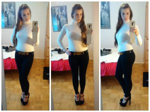 Leggings Jeggings Amisu schwarz eng sexy Bodycon stretch blogger styleblogger