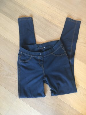 Leggings Jeggings Denim dunkelblau stretchig Gr. S