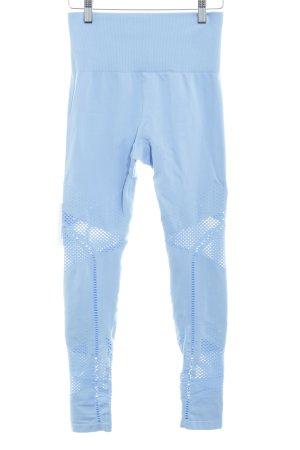 Leggings kornblumenblau-himmelblau abstraktes Muster sportlicher Stil