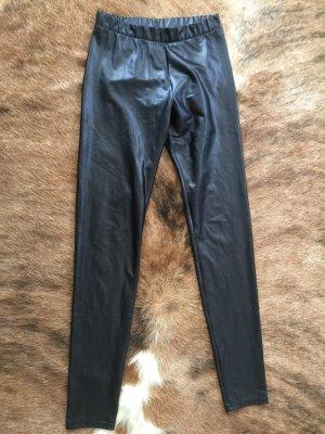Leggings Leder Look Gr.M