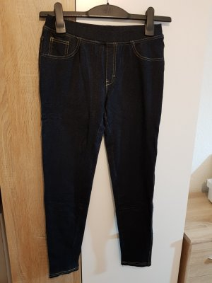 Leggings mit Dunkelblau Jeans Muster