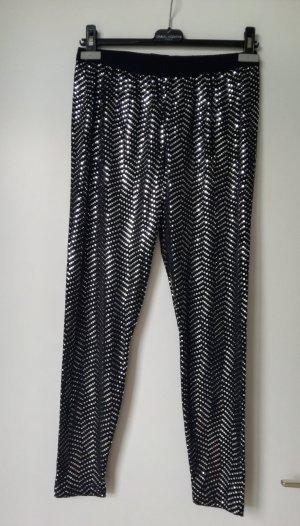 Bader Leggings black-silver-colored mixture fibre