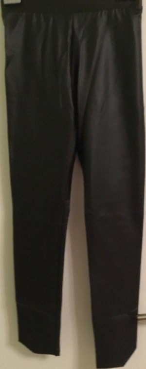 Leggings mit Leder-Effekt schwarz Größe S