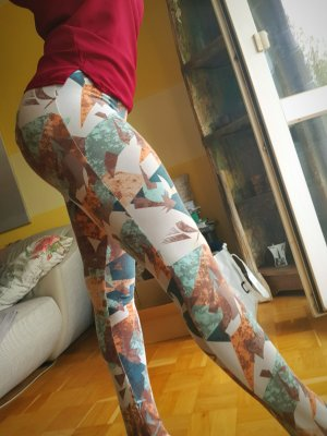 Leggings mit Muster Gr. M