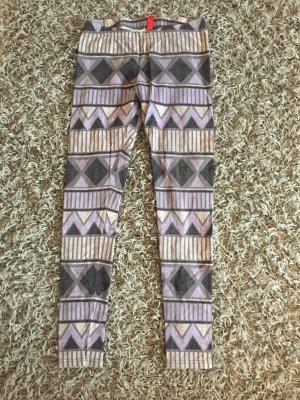 Leggings mit Muster lila