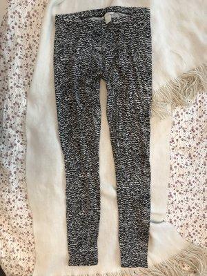 Leggings mit Muster schwarz weiß