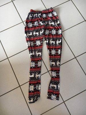Leggings mit Weihnachtensmotiveb