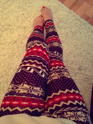 #leggings mit #winter Muster #neu