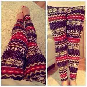 #leggings mit #winter Muster #neu