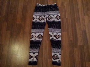 leggings mit wintermuster s/m