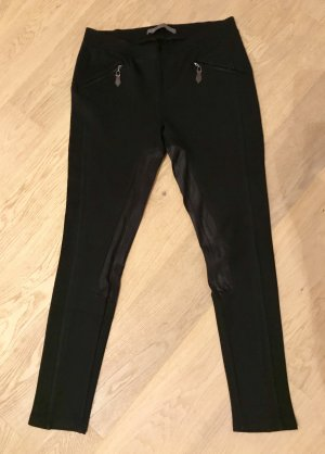 Zara Basic Riding Trousers black-black brown