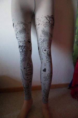 Leggings gris-negro