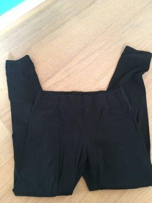 Leggings schwarz Basic stretch Stoffhose mit Gummibund Gr. M