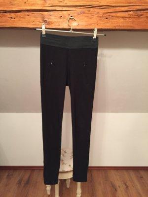 Leggings schwarz Batik S M 36 38 Hose Blickdicht legging treggings high waist