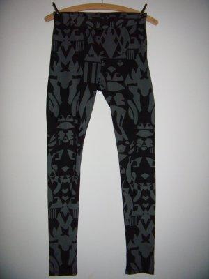 Leggings schwarz grau