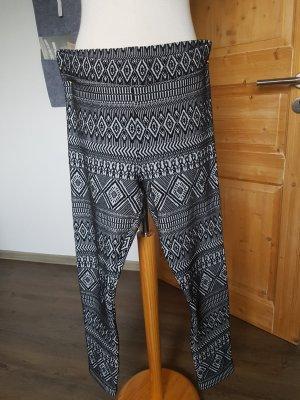 Leggings schwarz/weiß