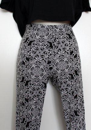 Leggings, schwarz weiß gemustert