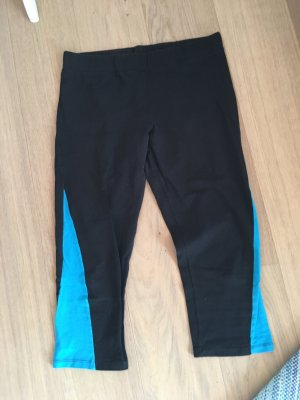 Leggings Sporthose Tights Stoffhose 7/8 schwarz blau Gr. M