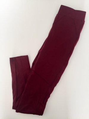 Ann Christine Legging rouge carmin-rouge foncé