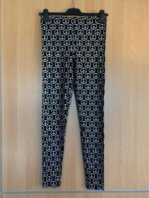 Topshop Leggings negro-color plata