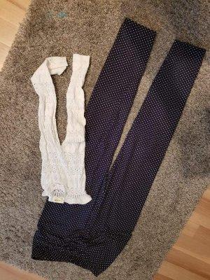 Leggings blanco-azul