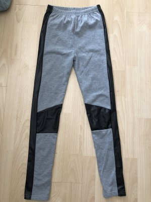 Leggings light grey-black