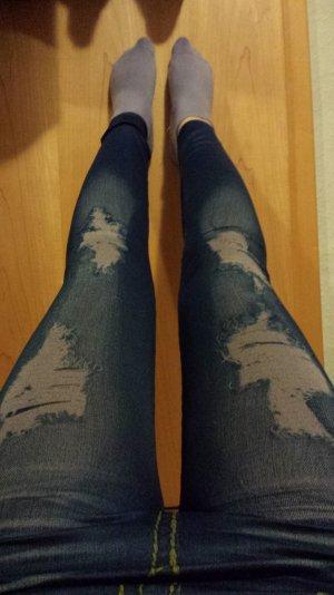 Leggins Jeans-used-look