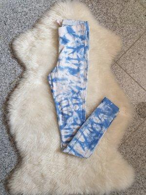 Leggins Leggings FB Sister XS blau weiß Hose Jeggins Jeggings pants jeans hellblau