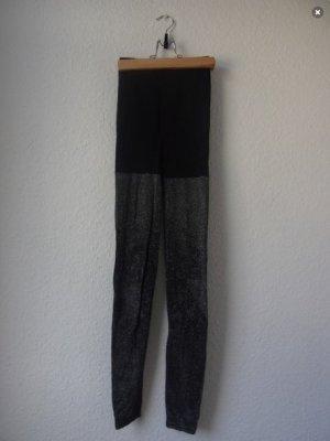 Vintage Leggings black-silver-colored lurex