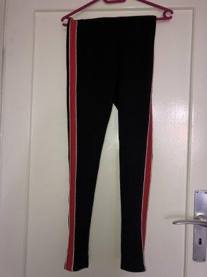 H&M Legging noir-rouge
