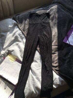 Legginsanzug schwarz catsuit trägerlos leggins Anzug Einteiler playsuit