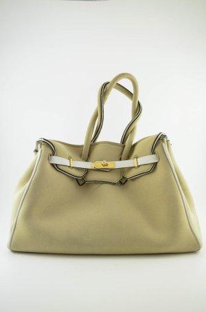 LEGHILA Damen Handtasche Mod.B-Bag Neoprentasche Neopren Beige Henkeltasche