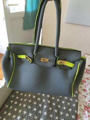 Shopper neon yellow-grey