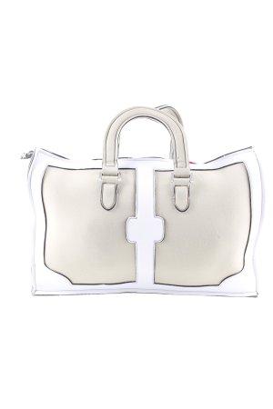 Leghila Stoffen tas beige-wit straat-mode uitstraling