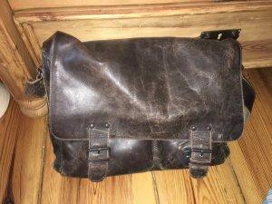 Lehrertasche von Aunts&Uncles, dunkelbraunes Leder im Used-Look