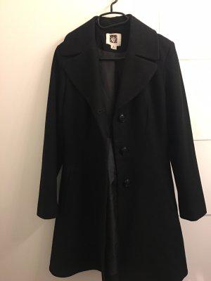 Anne Klein Pea Coat black wool
