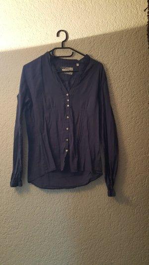Leicht durchsichtiges Hemd Dunkelblau
